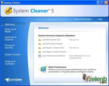 System Cleaner 5.87 (2010/англ)