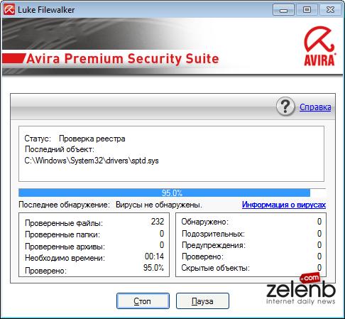 Скачать Avira AntiVir Personal rus. Основной сервер - Скачать